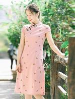 Fashion Short sleeve Short dress Qipao Dress vintage chinese style restoring cheongsam dress Chinese Traditional dress