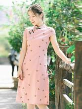 Fashion Short sleeve dress Qipao Dress vintage chinese style restoring cheongsam Chinese Traditional