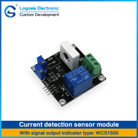 High Quality Current Sensor Module With Relay Short Analog Output TTL Level Output Over Current Protection