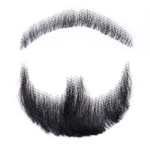 DIFEI 2 inch width Weave Fake Beard Man Mustache Makeup Film High Temperature Fiber Synthetic make Straight Hair Cospaly Party(China)