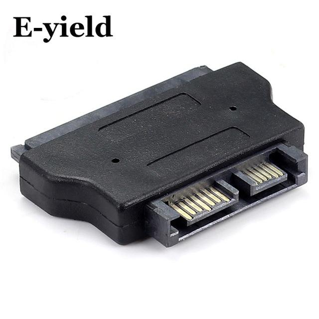 SATA22Pin To 13Pin Slimline SATA Adapter 7 15 Serial ATA Female 6 Male Adapters Connector Converter