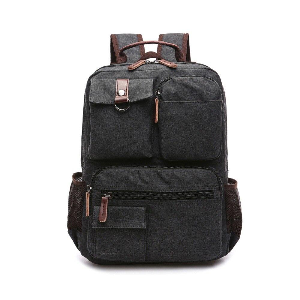 Canvas Backpack,Canvas School Backpack Hiking Travel Rucksack Fits 15 Laptop for Man Weman