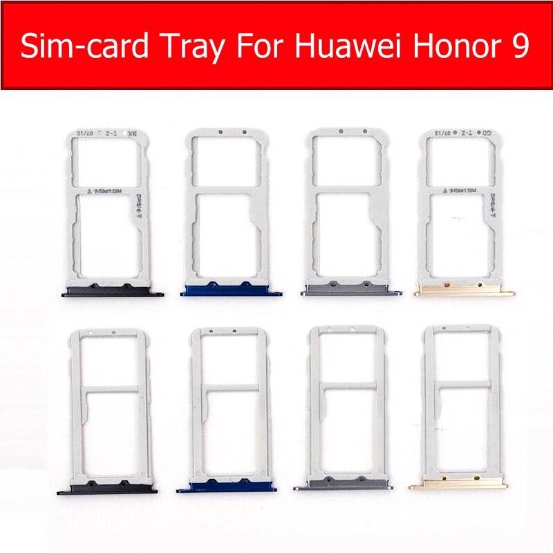 Genuine Memory Card &SIM Card Tray Holder For Huawei Honor 9 STF-AL00 AL10 L09 SIM &Micro SD Card Slot Reader Adapter Repair