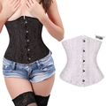 2016 Hot Fashion Black 28 spiral steel bones boned Waist  Underbust lace up corset Top Body Shaper