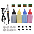 Refill toner Pulver patrone tool kit + 4 stücke chip FÜR HP CB540A patrone LaserJet Pro CP1514n CP1515n CP1516n CP1517ni