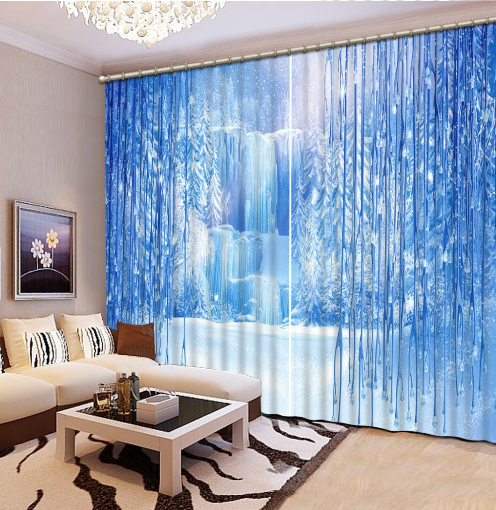 US $72.24 57% OFF|Custom 3d curtain iceberg elegant living room curtains  luxury hotel curtains valance curtains for living room-in Curtains from  Home ...