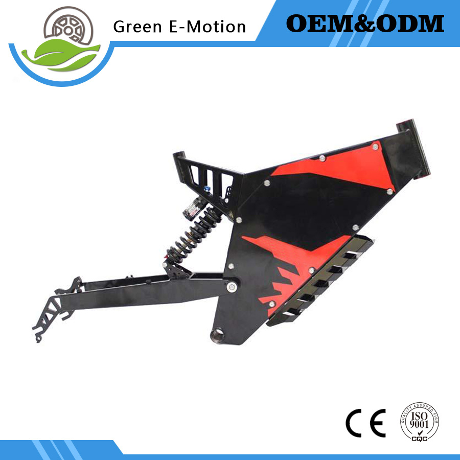 Exclusive Customized  Electric bicycle Frame/eBike Mountain Frame Front and Rear Suspension bicycle Frame