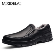 MIXIDELAI Genuine Leather warm men boots large size 47 fashion winter boots,comfortable ankle boots men shoes,quality snow boots(China)