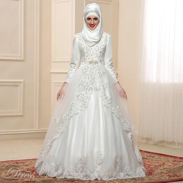 Muslim wedding dresses long sleeve