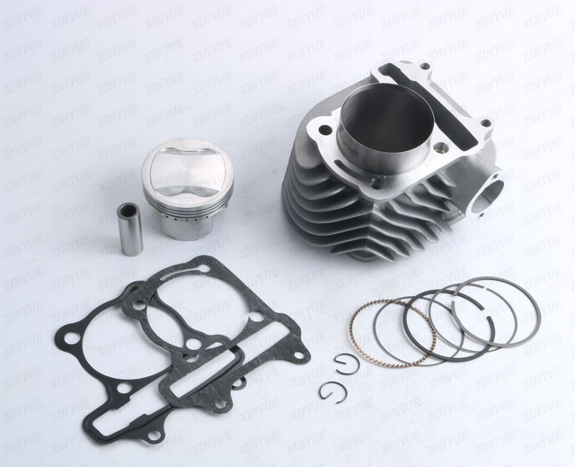 63mm GY6 152QMI 157QMJ 125 150 200cc GP110 4 valve / 4V valve big bore Cylinder Set