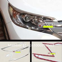 For Honda CRV CR-V 2012 2013 2014 ABS Chrome head light lamp cover trim new!