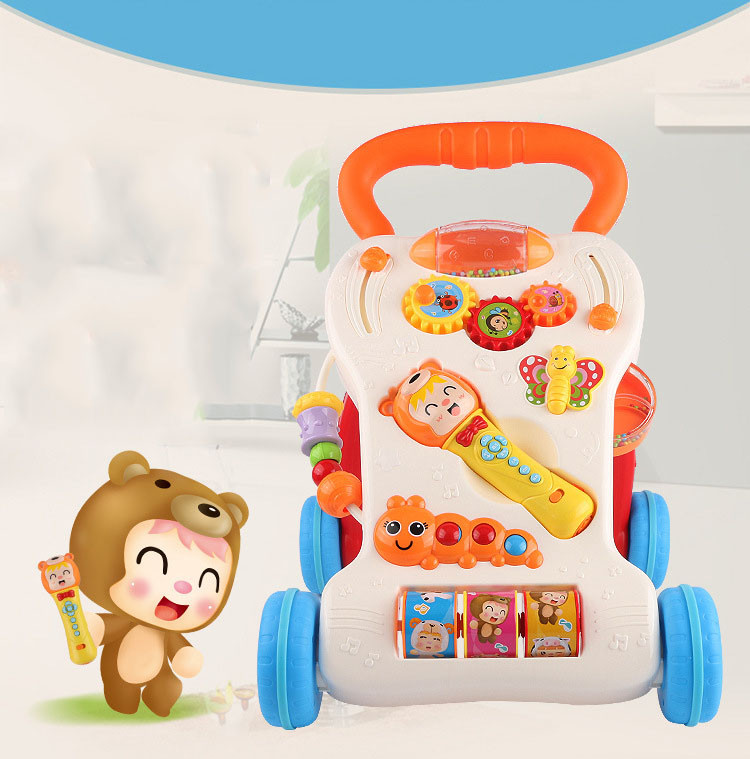 Multifunctional Baby Walker With Music & Lignt Baby Learning to Stand Trolley Adjustable Infant Musical Instrument Education Toy (11)