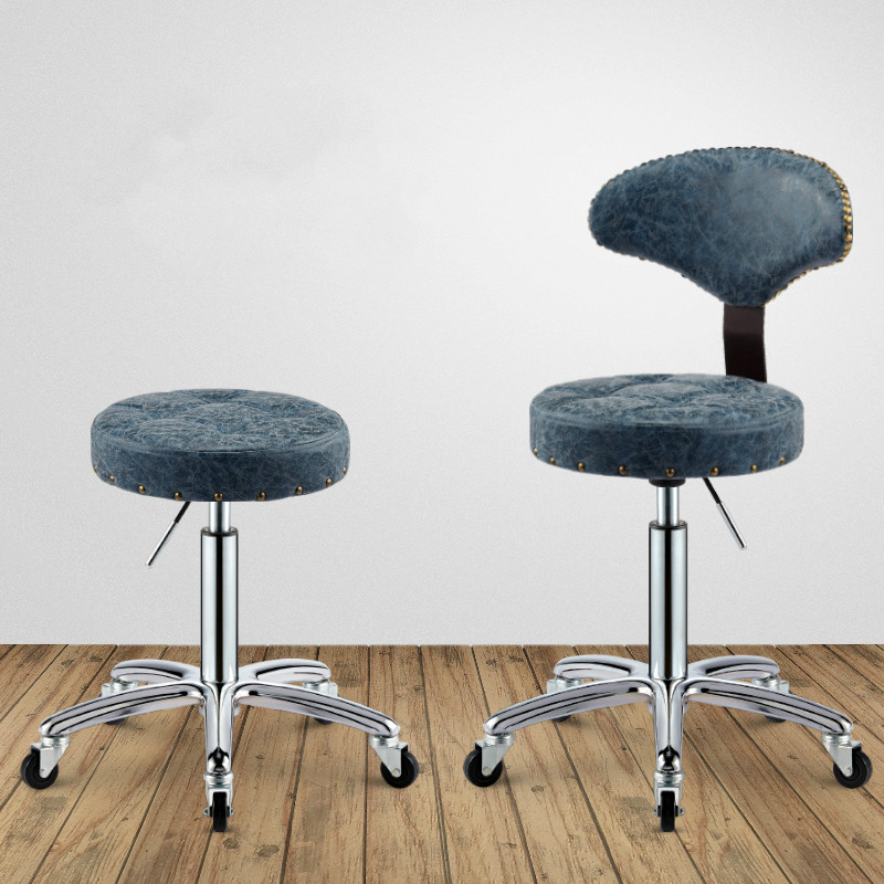 Barber Chairs Symbol Of The Brand 15%,luxurious Bronze Barber Chair Microfiber Leather Metal Rotate Lift Beauty Stools High Elasticsponge Nail Embroidery Chairs