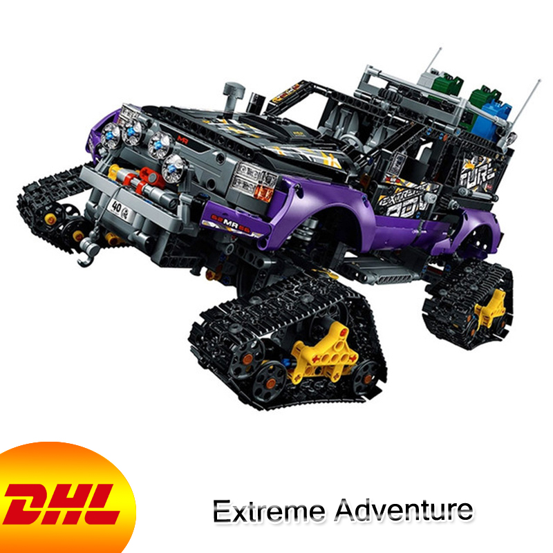 HF Technic Figures 2050Pcs Extreme Adventure Model Building Kit Blocks Bricks Educational Toy For Children Compatible With 42069 2050pcs 2in1 techinic extreme adventure