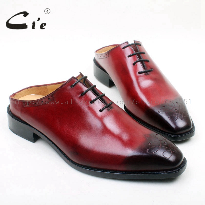 cie Free Shipping Custom Bespoke Handmade Men's Oxford Color Black Calf Leather Insole Outsole Square Breathable Toe Lacing shoe cie square plain toe black wine handmade pure genuine calf leather outsole breathable men s dress oxford bespoke men shoe ox407