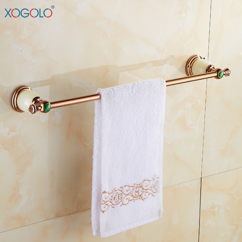 ộ_ộ ༽Xogolo Solid Brass Towel Bar, Rose Gold Rack Bathroom ...