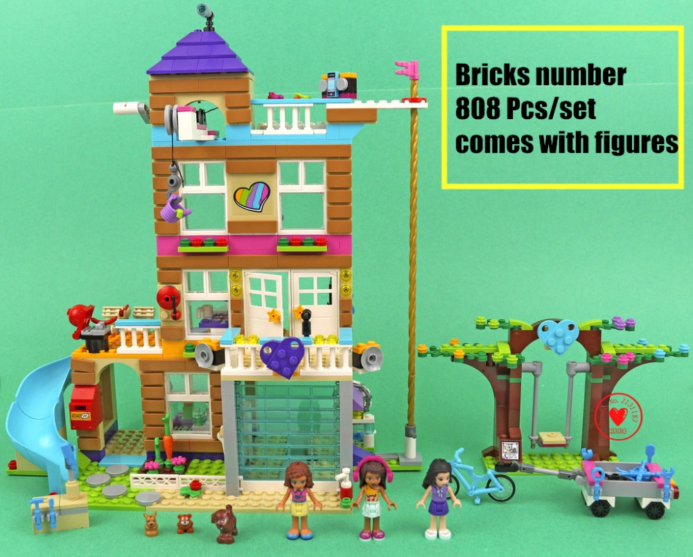 New heartlake friends Series House fit legoings friends figures city house Building Blocks Bricks 41340 gift kids set diy toys 808pcs diy new girls series the friendship house set building blocks bricks friends toys for children compatible legoingly 41340