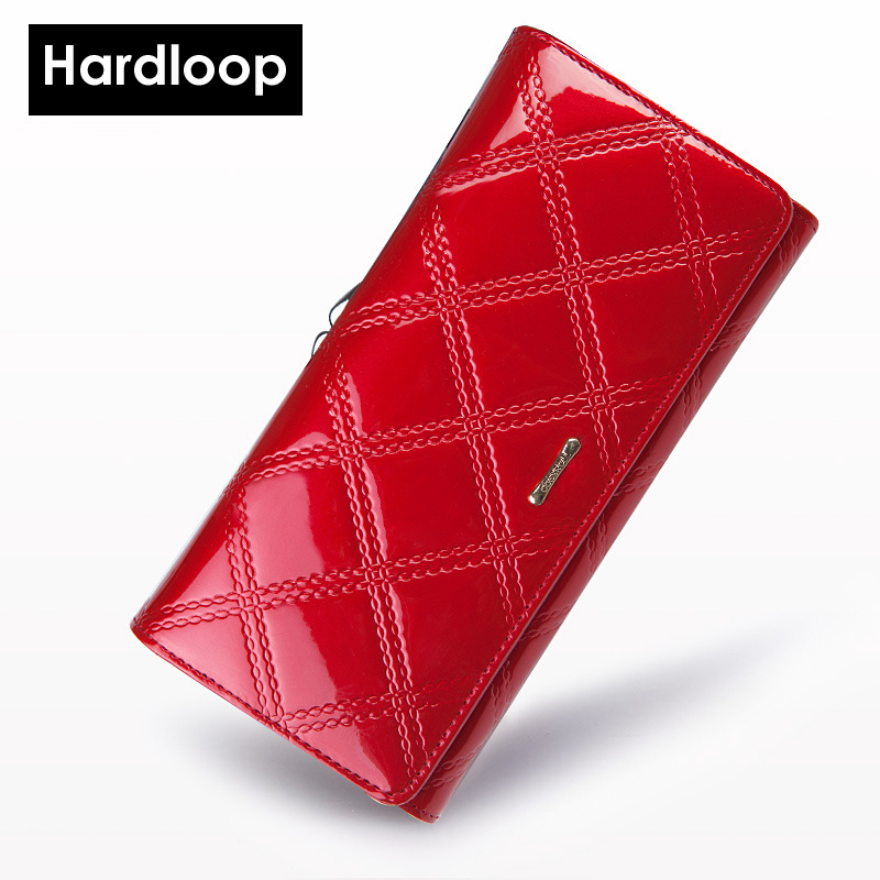 ФОТО Hardloop Women Wallets Genuine Leather Wallet Female Purse Long Coin Purses Holders Ladies Wallet Hasp Fashion Womens Wallets