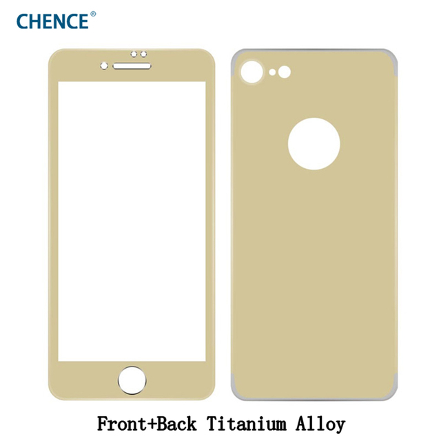 CHENCE Front Glass + Back Cover Titanium Alloy Frame Tempered Glass ...
