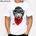 FLC brand 2016 summer funny happy cat printed slim fit men's top tees european style hip hop t shirt for men big size XXXXL