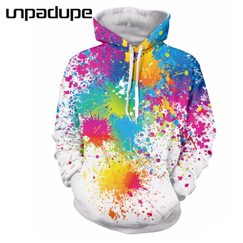 Unpadupe Brand 2018 Paint Hoodies Men/Wos