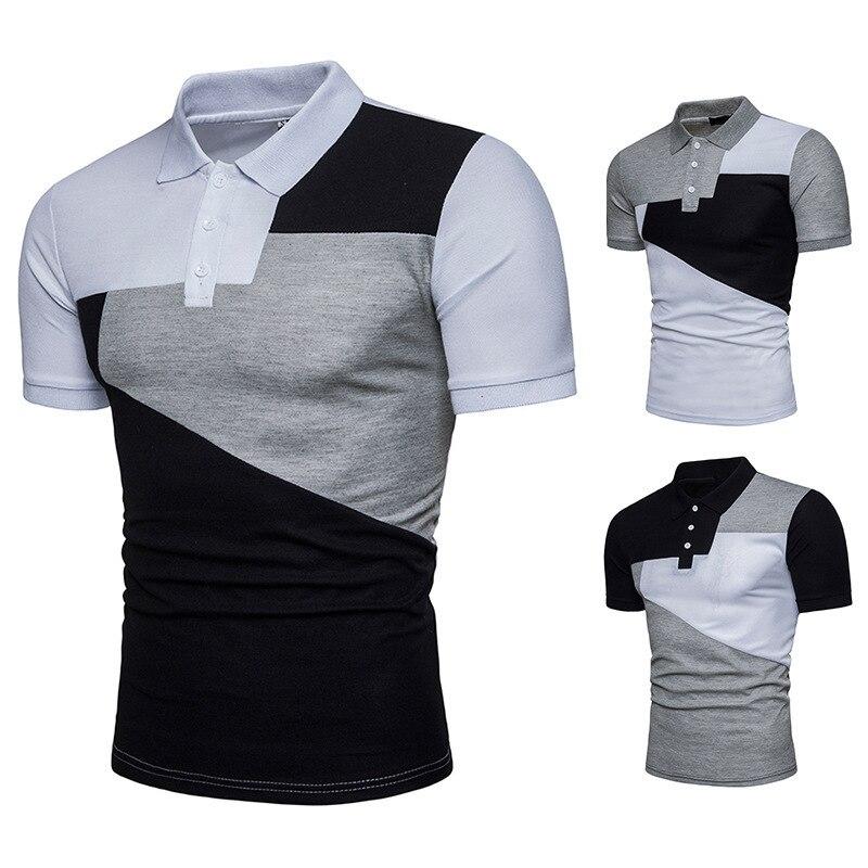 Summer Men's Fashion tshirts men Short Sleeve T-shirt Casual Lapel Pullover Tops mens clothing brand
