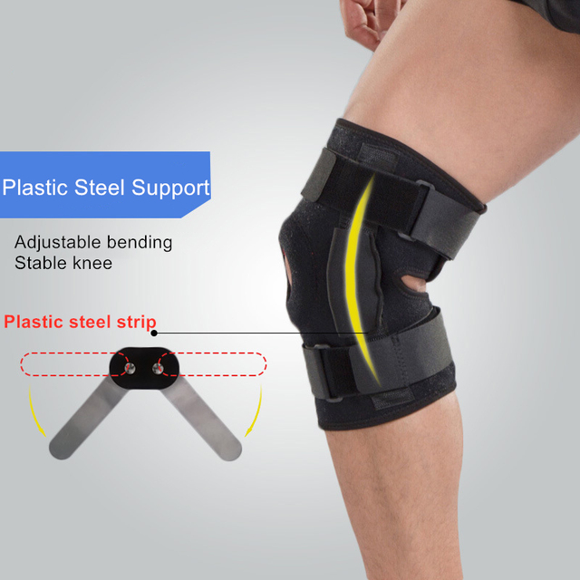 1PC Knee Joint Brace Support Adjustable Breathable Knee Stabilizer Kneepad Strap Patella Protector Orthopedic Arthritic Guard 2