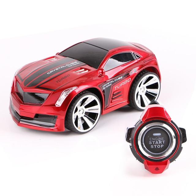 Mini carro rc 2.4g 6ch carro de comando de voz smart watch piscando controle remoto carro