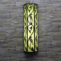 Chinês do vintage ao ar livre arandela paisagem luz led iluminação jardim à prova dwaterproof água conduziu a iluminação comercial lâmpadas de parede do corredor