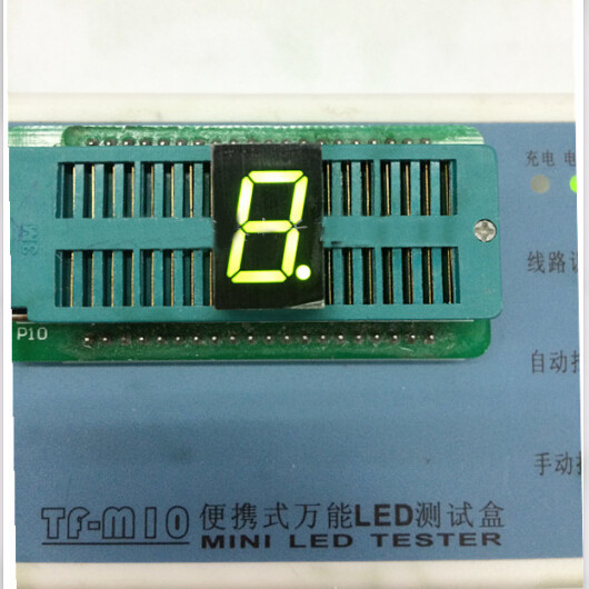 Free Ship 100pc Common Cathode 0.5inch Digital Tube 1 Bit Digital Tube Display Green Digital Led Tube Factory Direct
