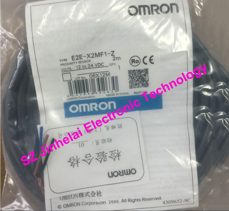 100% New and original E2E-X2MF1, E2E-X2MF1-Z  OMRON  Proximity switch, Proximity sensor  12-24VDC   2M [zob] new original omron shanghai omron proximity switch e2e x18me1 2m 2pcs lot