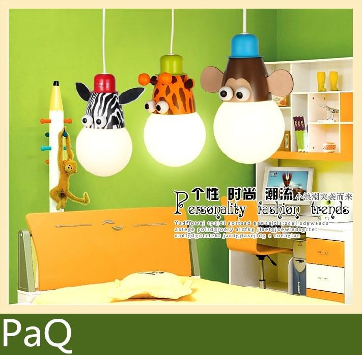 1pcs Cartoon Kids Lighting Chandelier Lamp For Kids Room One Pendant Send  Led Bulb Light Fixture