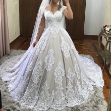 SexeMara Vintage Wedding Dresses with Apliques Bridal Gowns