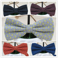 (1 pcs/lot) Tide male latest fashion leisure gray bowknot yellow stars design formal the bow tie on sale