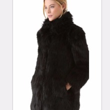 2016 winter warm fur coat Women plus size clothing Elegant Faux Fur Long Coat Long Sleeve Solid Slim Fur Jacket Coat Outerwear