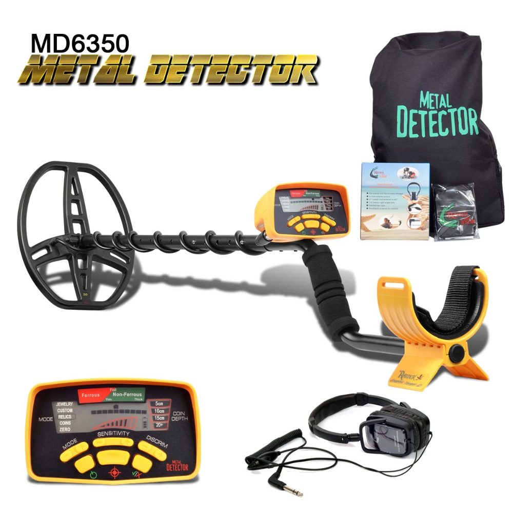 Subterrâneo Detector De Metais Pinpointer MD-6350 MD6350 Gold Digger Treasure Hunter MD6250 Atualizado Profissional Display LCD