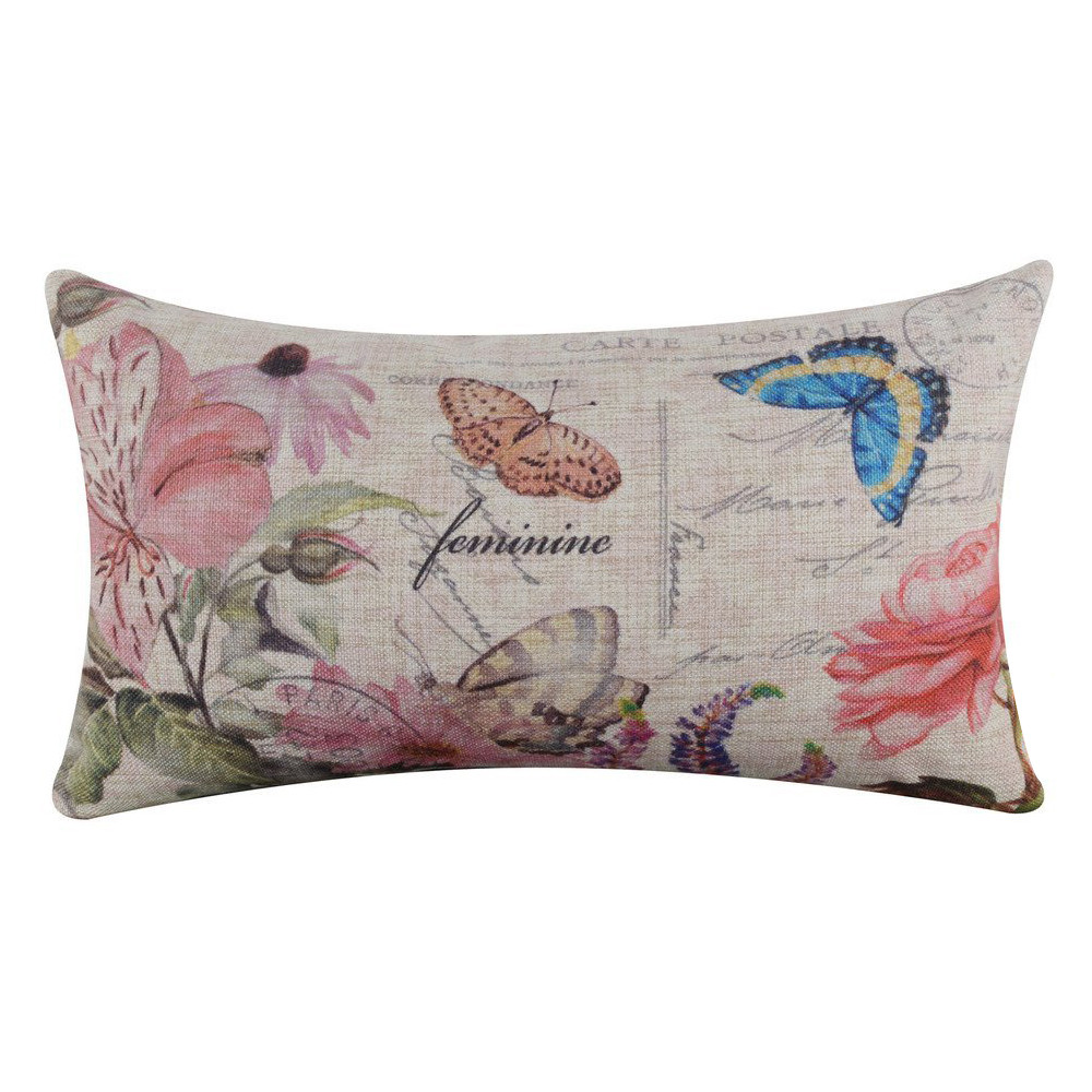 New Qualified Cushion Cover Rectangle Linen Square Throw Flax Pillow Case Decorative Cushion Pillow Cover dig1123
