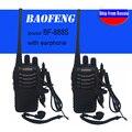 2 unids/set baofeng bf-888s walkie talkie portátil radio bf888s 5 w 16ch uhf 400-470 mhz bf 888 s comunicador transmisor transceptor