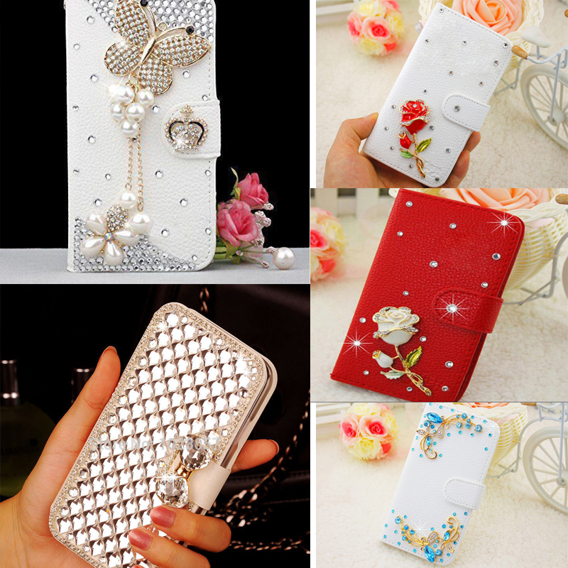 Bling Case For Huawei P SMart Luxury Bling Crystal Rose Flower Wallet Leather Case For Huawei P SMART FIG-LA1 LX1 LX2 LX3 5.65