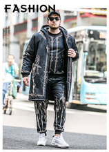 C275 Big Size Steampunk Gothic Retro British Hip-hop high street loyal empire trench overcoat with cap for oversize men