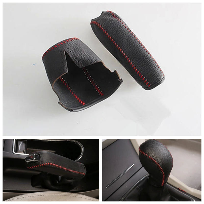 QDLK 2017 Geely New Emgrand 7,EC7,EC715,EC718,Emgrand7,E7,EC7-EV,EV,Car Hand Brake Handle Shift Lever Cover