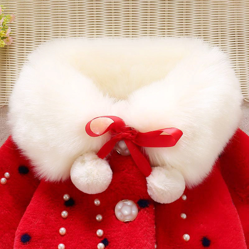 Winter warm thick velvet jacket for baby girls coat princess jackets (3)