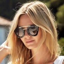 Mujeres del ojo de gato gafas de Sol de La Vendimia Súper estrella de La Moda de Marca Espejo UV400 Gafas de Sol de La Señora Gafas Hembra