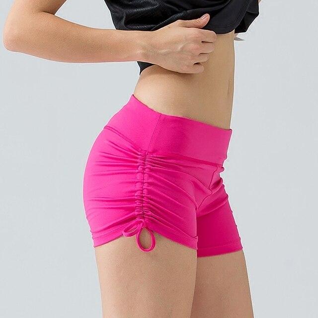 8aa908509b45f U Sports Shorts Female Hot Shorts Women Pulling Ropes Along Size Seam Yoga  Shorts Wide Waist Training Fitness Bottom Black Rose-in Yoga Shorts from ...