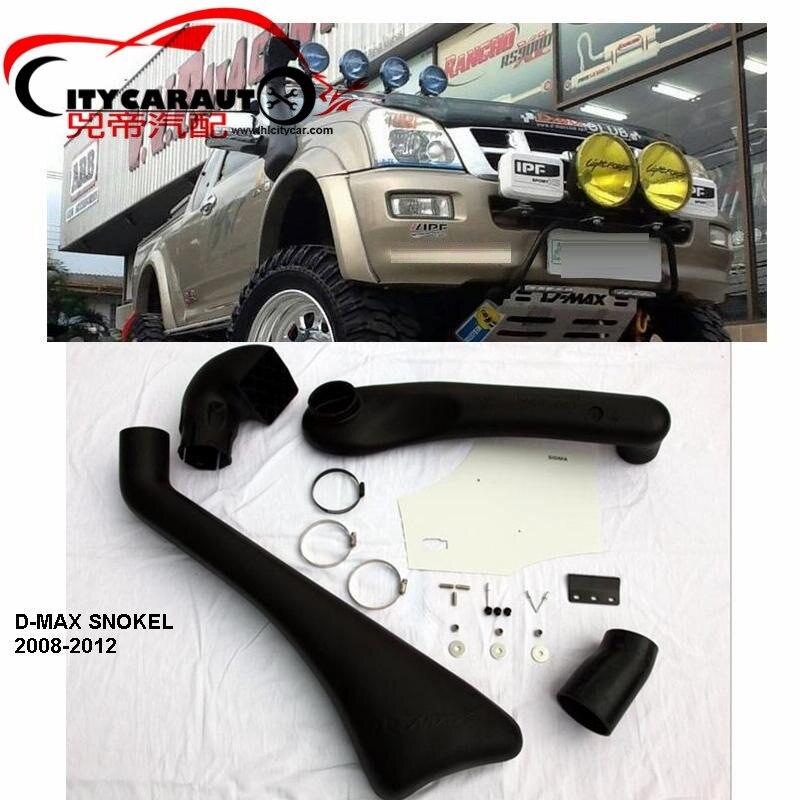 CITYCARAUTO SNOKEL KIT Fit FOR D-MAX 2008-2012 Wildtrak Air Intake LLDPE Snorkel Kit Set 4X4 4WD DMAX