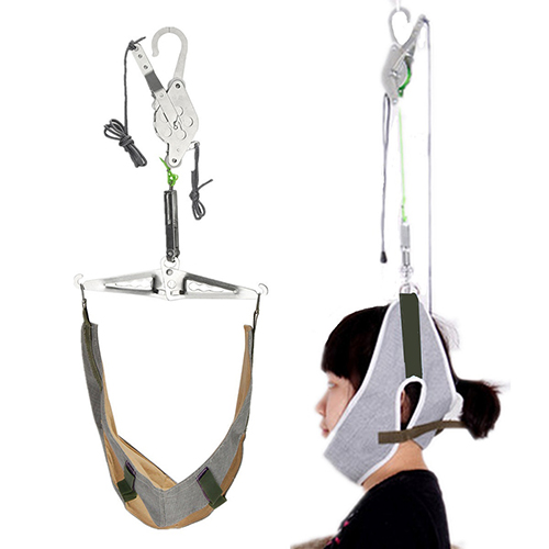 Pain Relief Hanging Neck Back Head Massager Stretcher Cervical Traction Stretch Gear Brace Device Kit Adjustment Chiropractic