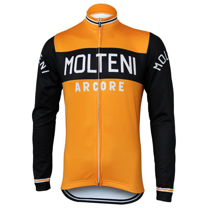 13b072615 Molteni Cycling Jersey Long Sleeve Pro Team Winter Fleece Or Thin ...
