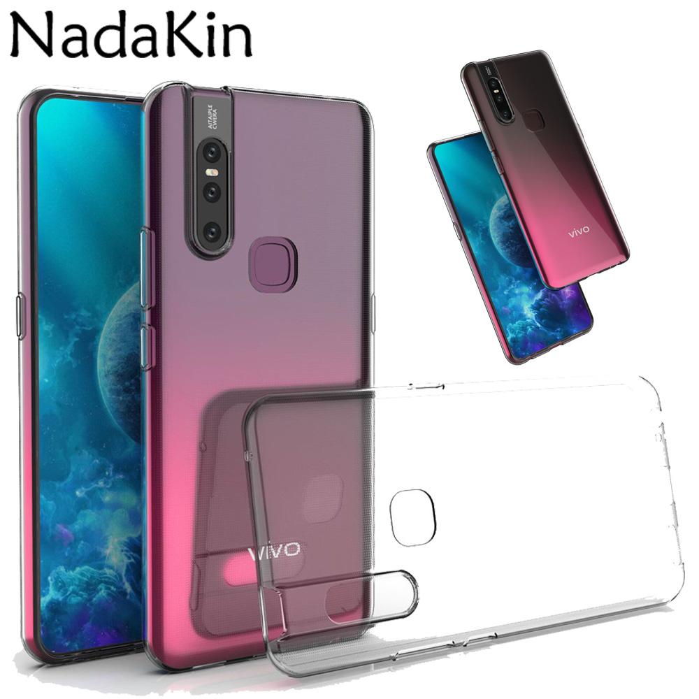 Clear Soft Fitted Back <font><b>Case</b></font> for <font><b>VIVO</b></font> X27 V15 Pro X20 Plus V11 V11i Y69 Y31 Y33 <font><b>Y35</b></font> Y37 Y93 Y95 Slim Light TPU Cover Shell image