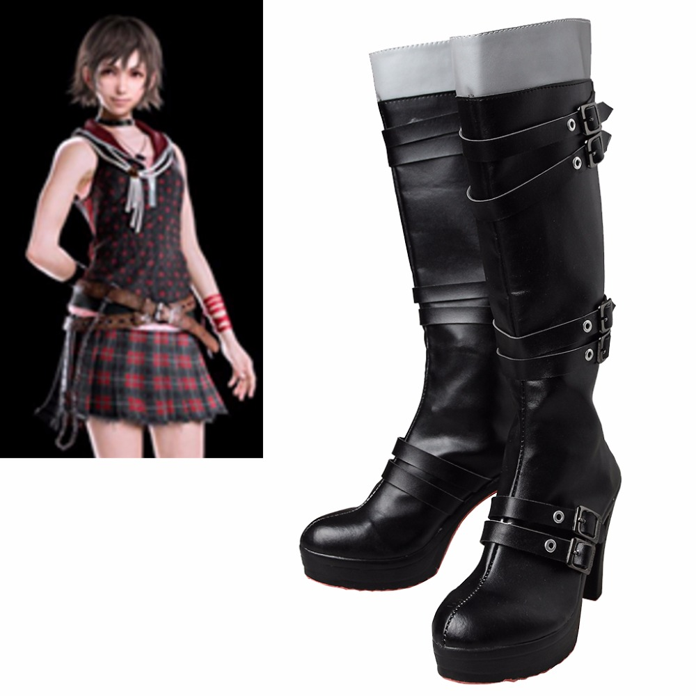 Finale fantaisie XV Cosplay Costume Iris Amicitia Cosplay bottes Final fantaisie femmes talons hauts femmes Cosplay chaussures bottes L0516