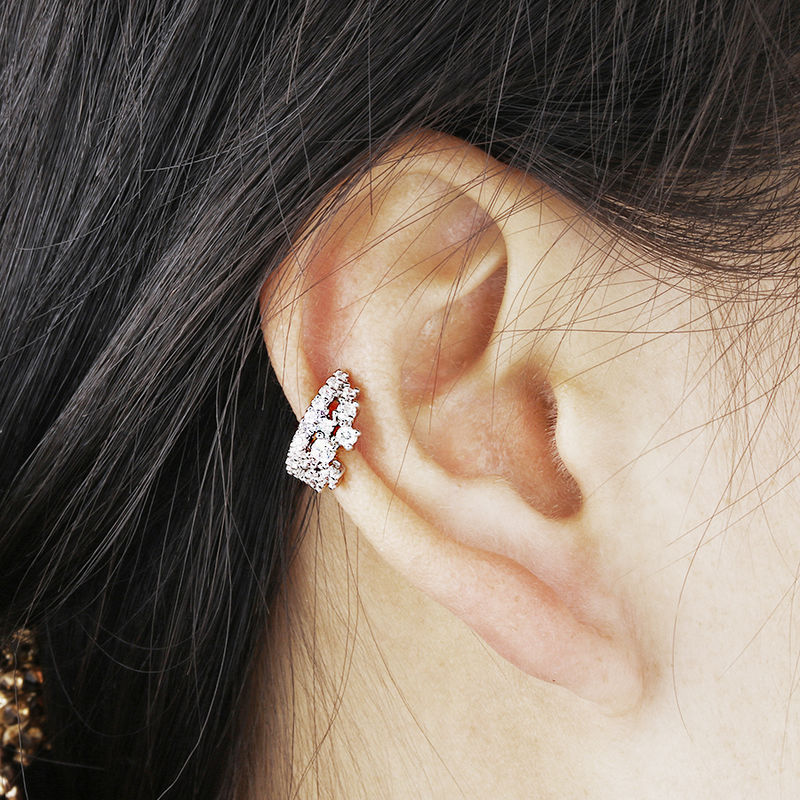 Mode 1ct Cubic Zirconia Anting Klip Pernikahan Anniversary Perhiasan - Perhiasan fashion - Foto 3